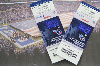2 Colts/Titans tickets (12/18)