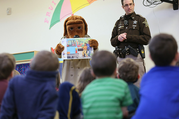 Detective Couch and McGruff the Crime Dog visit the Preschool