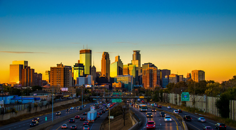 Sun Setting on Downtown Minneapolis