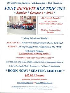 FDNY Bus Trip Flyer