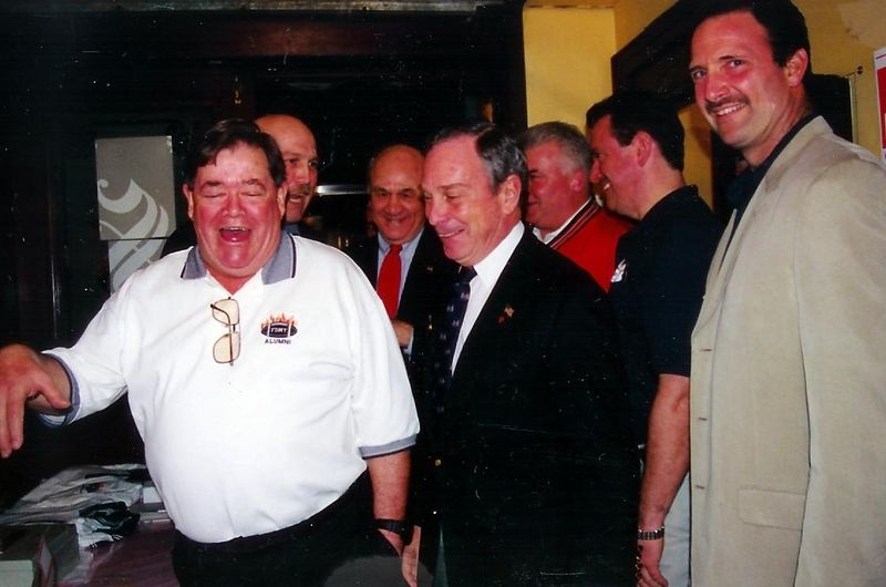 FDNY Reunion after 9/11<br /> Pudgy has a laugh at the Mayor's promises to FDNY....he knows they  will never happen !!