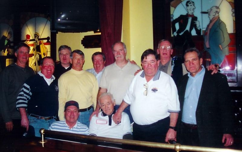 The original members of the Bravest , <br />  with founder Pudgy Walsh