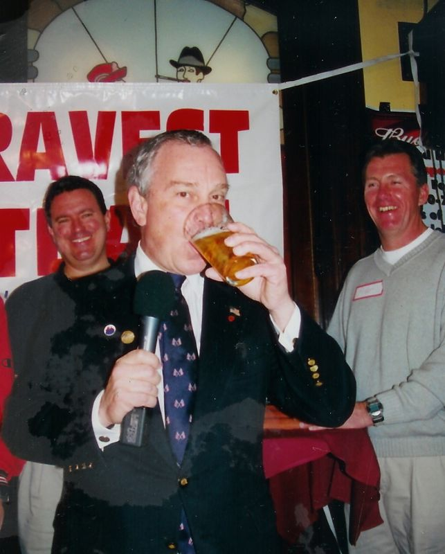 Mayor Bloomberg lifts a Glass to the Bravest