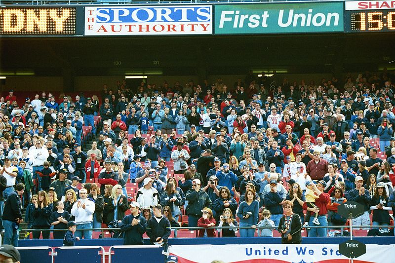 The Stands filled with Family <br /> Giant Stadium  May 19, 2002  <br /> Bravest vs Finest