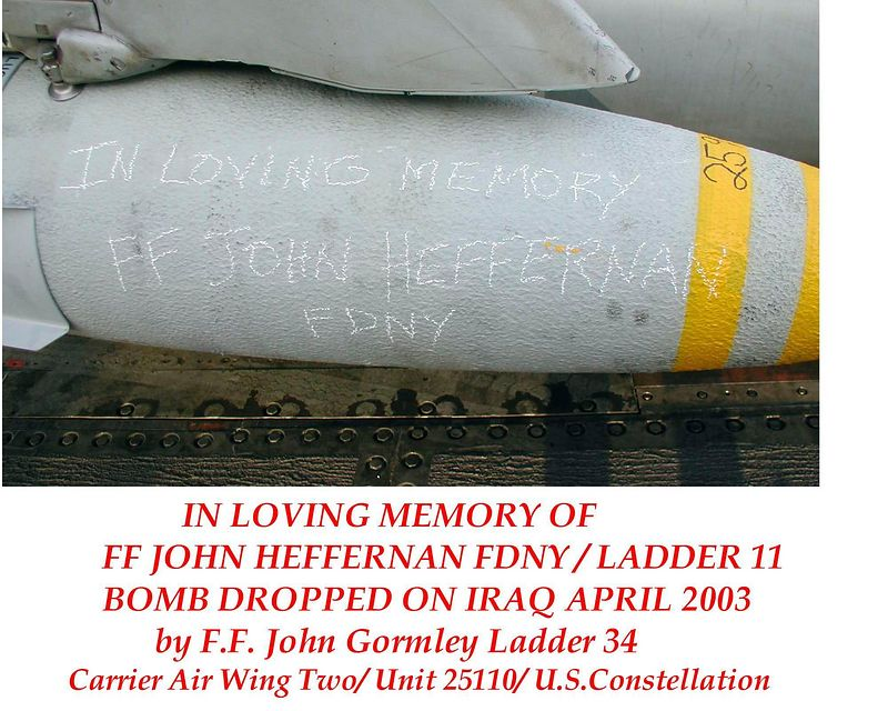In Memory of ....<br /> <br /> Bomb dropped by John Gormley on Iraq while he served with the US Airforce