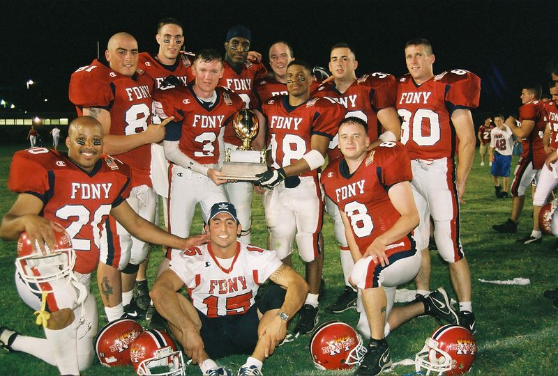 The Champs with the Trophy <br /> FDNY Beats The NYPD  2003