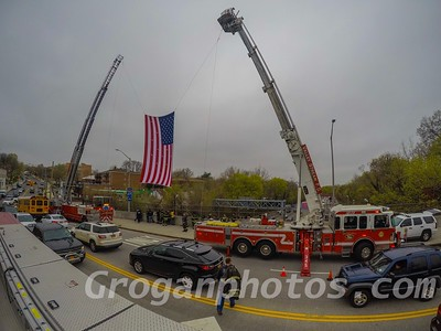 Procession for FF William Tolley