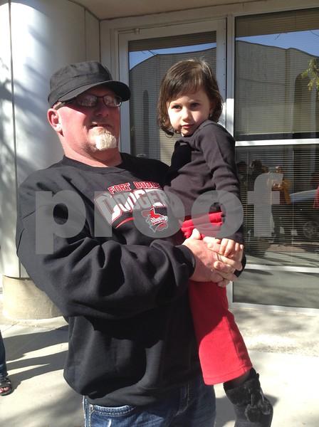 Todd Harrison with his niece Chloe Harrison