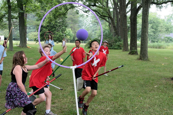Playing quidditch at T.U. Ambler's Harry Potter Camp