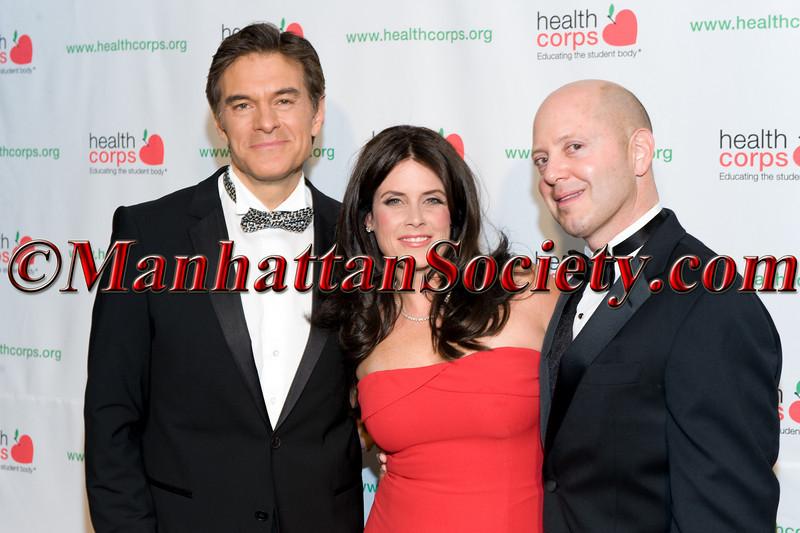 Dr  Oz, Lisa Oz, Robert Guida (HealthCorps) Advisory Board Member