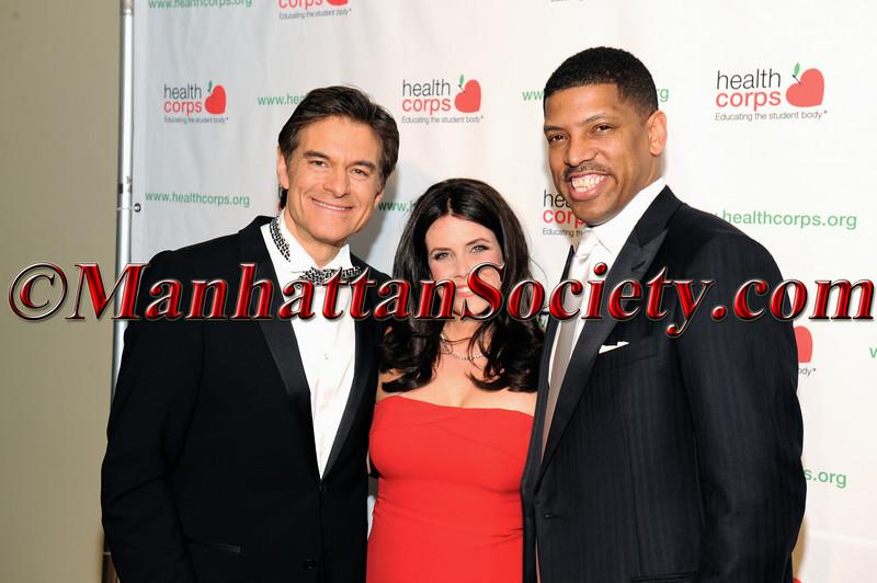 Dr Mehmet Oz, Lisa Oz, Former NBA Great and now Mayor of Sacramento, Kevin Johnson