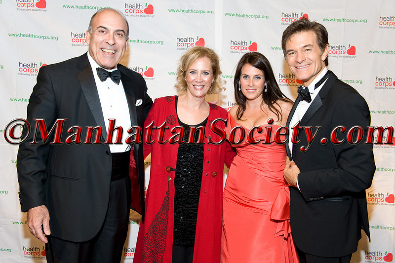 """Muhtar Kent, Defne Kent, Lisa Oz, Dr. Oz attend HEALTHCORPS' Fifth Annual Gala """"Fresh From The Garden"""" on Wednesday, April 13, 2011 at Intrepid Sea, Air & Space Museum, Pier 86 at 46th Street & 12th Avenue, New York, NY  PHOTO CREDIT: Copyright ©Manhattan Society.com 2011"""