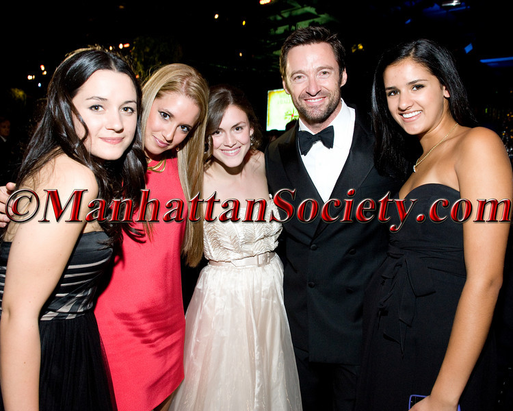 """Arabella Oz, VIP Guest, Zoe Oz, Hugh Jackman, Natalie Rodrigues attend HEALTHCORPS' Fifth Annual Gala """"Fresh From The Garden"""" on Wednesday, April 13, 2011 at Intrepid Sea, Air & Space Museum, Pier 86 at 46th Street & 12th Avenue, New York, NY  PHOTO CREDIT: Copyright ©Manhattan Society.com 2011"""