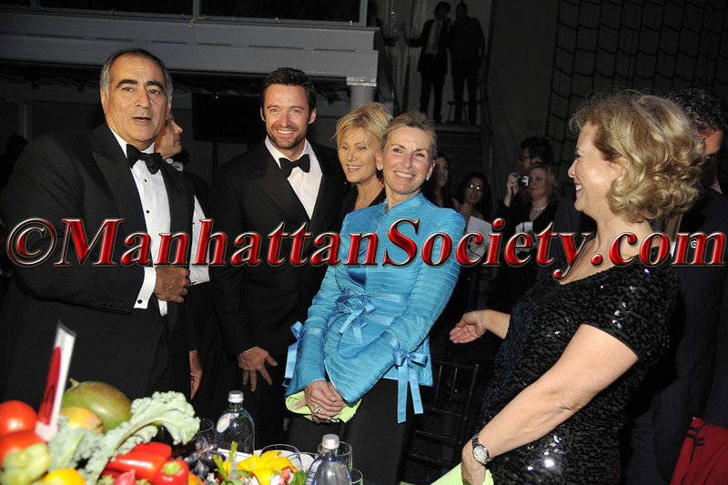 "John Mack, Hugh Jackman, Deborra-Lee Furness, Christy Mack attend HEALTHCORPS' Fifth Annual Gala ""Fresh From The Garden"" on Wednesday, April 13, 2011 at Intrepid Sea, Air & Space Museum, Pier 86 at 46th Street & 12th Avenue, New York, NY  PHOTO CREDIT: Copyright ©Manhattan Society.com 2011"
