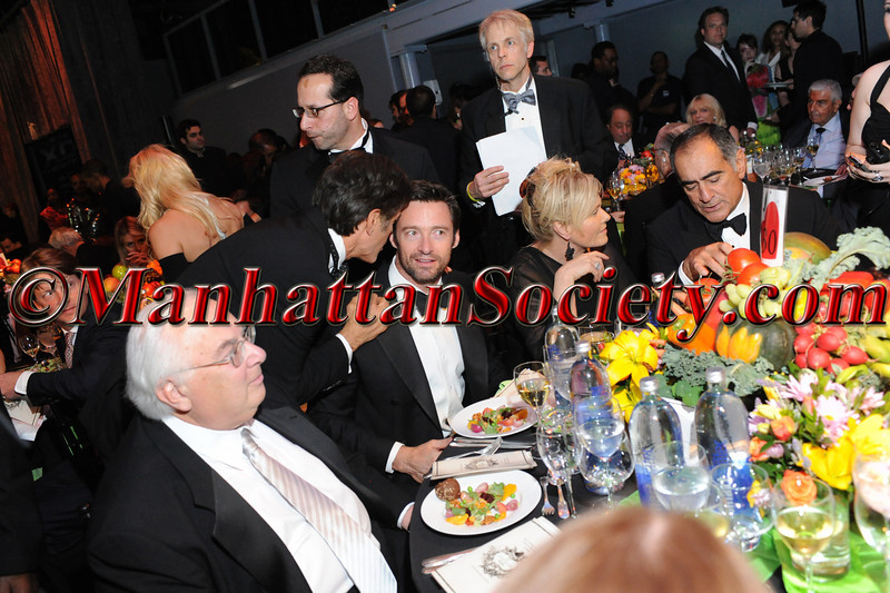 "Jay Goldsmith, Dr. Oz, Hugh Jackman, Deborra-Lee Furness, John Mack attend HEALTHCORPS' Fifth Annual Gala ""Fresh From The Garden"" on Wednesday, April 13, 2011 at Intrepid Sea, Air & Space Museum, Pier 86 at 46th Street & 12th Avenue, New York, NY  PHOTO CREDIT: Copyright ©Manhattan Society.com 2011"
