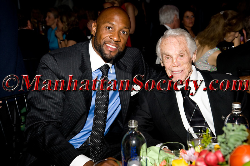 "Alonzo Mourning, Honoree Tibor Hollo attend HEALTHCORPS' Fifth Annual Gala ""Fresh From The Garden"" on Wednesday, April 13, 2011 at Intrepid Sea, Air & Space Museum, Pier 86 at 46th Street & 12th Avenue, New York, NY  PHOTO CREDIT: Copyright ©Manhattan Society.com 2011"