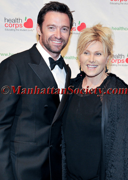 "Hugh Jackman,  Deborra-Lee Furness attend HEALTHCORPS' Fifth Annual Gala ""Fresh From The Garden"" on Wednesday, April 13, 2011 at Intrepid Sea, Air & Space Museum, Pier 86 at 46th Street & 12th Avenue, New York, NY  PHOTO CREDIT: Copyright ©Manhattan Society.com 2011"