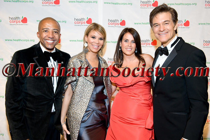 """Kevin Liles, Erika Liles, Lisa Oz, Dr. Oz attend HEALTHCORPS' Fifth Annual Gala """"Fresh From The Garden"""" on Wednesday, April 13, 2011 at Intrepid Sea, Air & Space Museum, Pier 86 at 46th Street & 12th Avenue, New York, NY  PHOTO CREDIT: Copyright ©Manhattan Society.com 2011"""