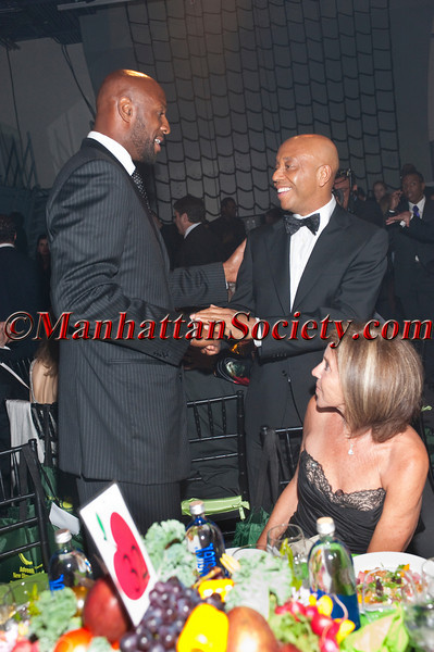 "Alonzo Mourning, Russell Simmons attend HEALTHCORPS' Fifth Annual Gala ""Fresh From The Garden"" on Wednesday, April 13, 2011 at Intrepid Sea, Air & Space Museum, Pier 86 at 46th Street & 12th Avenue, New York, NY  PHOTO CREDIT: Copyright ©Manhattan Society.com 2011"