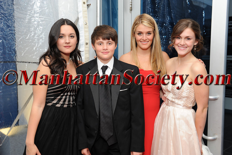 "Arabella Oz, Oliver Oz, Daphne Oz, Zoe Oz attend HEALTHCORPS' Fifth Annual Gala ""Fresh From The Garden"" on Wednesday, April 13, 2011 at Intrepid Sea, Air & Space Museum, Pier 86 at 46th Street & 12th Avenue, New York, NY  PHOTO CREDIT: Copyright ©Manhattan Society.com 2011"