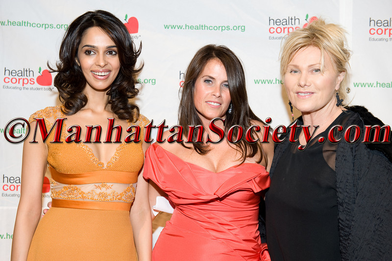 "Mallika Sherawat, Deborra-Lee Furness, Lisa Oz attend HEALTHCORPS' Fifth Annual Gala ""Fresh From The Garden"" on Wednesday, April 13, 2011 at Intrepid Sea, Air & Space Museum, Pier 86 at 46th Street & 12th Avenue, New York, NY  PHOTO CREDIT: Copyright ©Manhattan Society.com 2011"