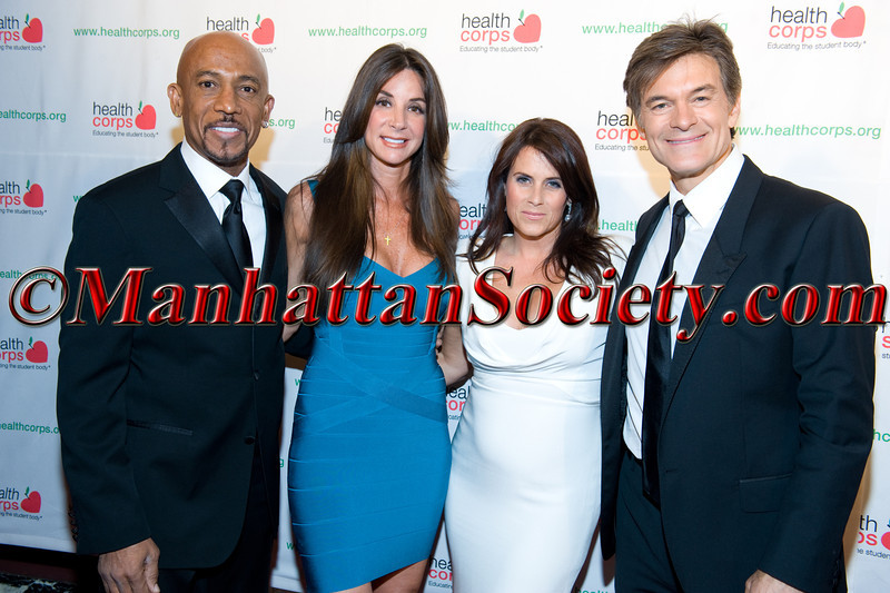 "New York –April 18:  Montel Williams, Tara Fowler, Lisa Oz, Dr. Mehmet Oz attend HEALTHCORPS' Sixth Annual Gala ""Garden of Angels"" at the Waldorf Astoria Hotel on Wednesday, April 18, 2012 in New York City PHOTO CREDIT: © 2012 Manhattan Society.com by Gregory Partanio"