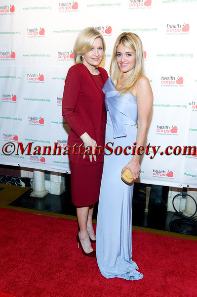 """New York –April 18: Diana Sawyer, Daphne Oz attend HEALTHCORPS' Sixth Annual Gala """"Garden of Angels"""" at the Waldorf Astoria Hotel on Wednesday, April 18, 2012 in New York City.  PHOTO CREDIT: © 2012 Manhattan Society.com by Gregory Partanio"""