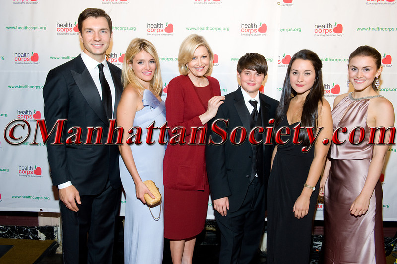 "New York –April 18: John Jovanovic, Daphne Oz, Diane Sawyer, Oliver Oz, Arabella Oz, Zoe Oz attend HEALTHCORPS' Sixth Annual Gala ""Garden of Angels"" at the Waldorf Astoria Hotel on Wednesday, April 18, 2012 in New York City.  PHOTO CREDIT: © 2012 Manhattan Society.com by Gregory Partanio"