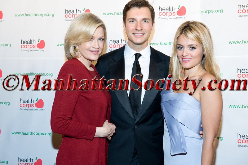 "New York –April 18:  Diane Sawyer, John Jovanovic, Daphne Oz,  attend HEALTHCORPS' Sixth Annual Gala ""Garden of Angels"" at the Waldorf Astoria Hotel on Wednesday, April 18, 2012 in New York City.  PHOTO CREDIT: © 2012 Manhattan Society.com by Gregory Partanio"