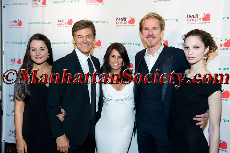 "Arabella Oz, Dr Oz, Lisa Oz, Matthew Modine, Ruby Modine attend HEALTHCORPS' Sixth Annual Gala ""Garden of Angels"" at the Waldorf Astoria Hotel on Wednesday, April 18, 2012 in New York City.  PHOTO CREDIT © 2012 Manhattan Society.com by Gregory Partanio"