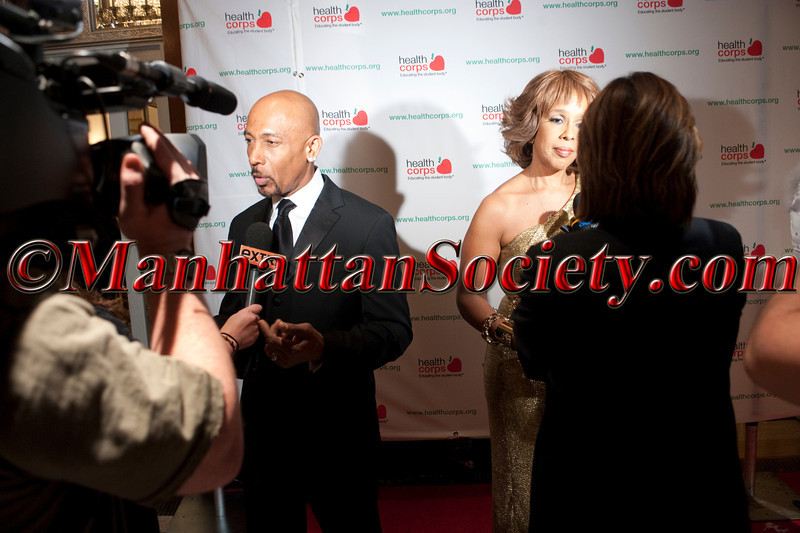 DSC_7209 Media Interviews Montel Williams Gayle at Health Corps Gala 2012