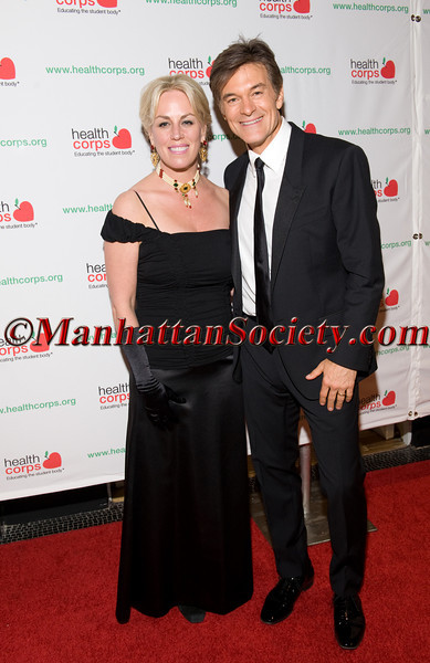 """New York –April 18: Michelle Bouchard, Dr. Oz attend HEALTHCORPS' Sixth Annual Gala """"Garden of Angels"""" at the Waldorf Astoria Hotel on Wednesday, April 18, 2012 in New York City.  PHOTO CREDIT: © 2012 Manhattan Society.com by Gregory Partanio"""