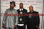Naughty by Nature is a Grammy Award-winning American hip hop trio (L-R) Treach ,DJ Kay Gee and Vin Rock before their performance.
