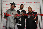 Naughty by Nature is a Grammy Award-winning American hip hop trio (L-R) Treach, DJ Kay Gee and Vin Rock before their performance.