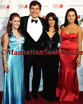 Zoe Oz, Dr. Mehmet Oz, Lisa Oz and Arabella Oz at Hammerstein Ballroom in New York City for The Enchanted Garden Gala To Benefit HealthCorps