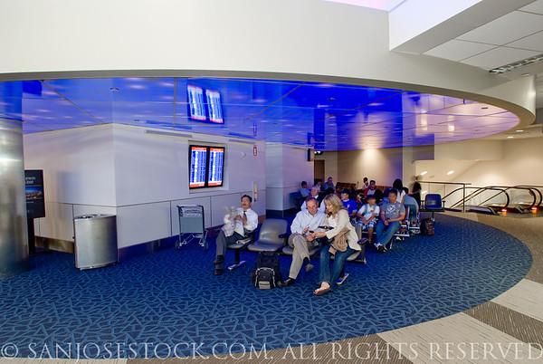 Norm E Mineta San Jose International Airport--new terminal B interior