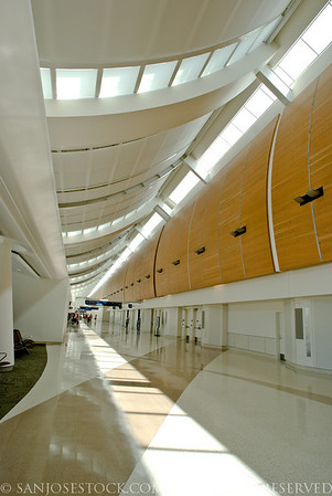 Norm E Mineta San Jose International Airport--new terminal B interior walkway