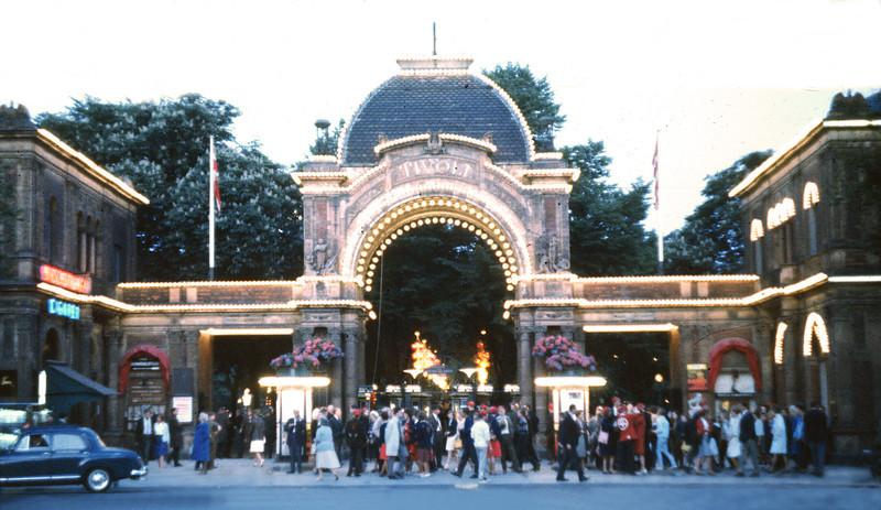 Tivoli Gardens the popular in city attraction in downtown Copenhagen