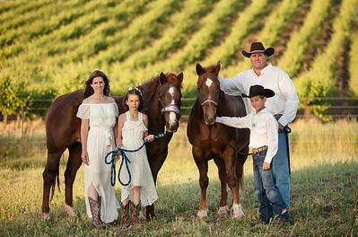 Family Photo at a Ranch