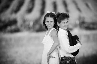 Sibling Black and White Photo