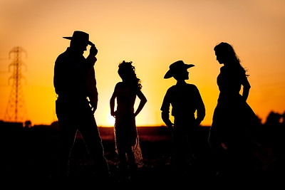 Cowboy Family Silhouette