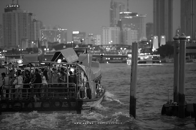 People of Bangkok in the Express Boat