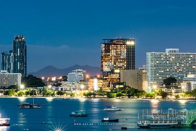 Twilight at Central Festival Pattaya Beach, Pattaya, Chonburi