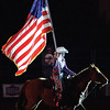 Kevin Harvison | Staff photo<br />  A cowboy shows respect before the start of the professional rodeo Saturday at the Southeast Expo Center.