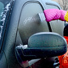 Kevin Harvison | Staff photo<br /> Many McAlester motorist woke up to the chore of scrapping ice off the windows of their vehicles this morning.