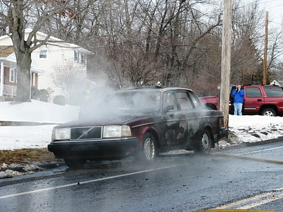 HAZLE TOWNSHIP VEHICLE FIRE 2-27-2008  PICTURES BY ADAM BURKE