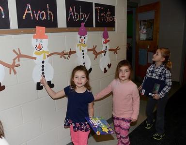 Check Out Kindergarten's Snowman Glyphs photos by Gary Baker