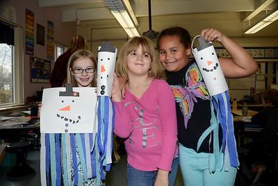 Second Grade Makes Snowmen photos by Gary Baker