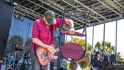 Dash Rip Rock at Crawdebauchery Fest  Guitar Bill Davis- Bass Chance Casteel- Drums Wade Hymel, Pompano Beach 3/24/18