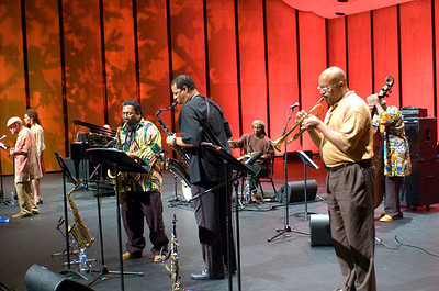 William Parker Ensemble - Amiri Baraka / Leena Conquest  /  Sabir  Mateen / Darryl Foster /   Hamid Drake / Lewis  Barnes / William Parker